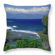 West Maui Ocean View Throw Pillow