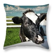 West Michigan Dairy Cow Throw Pillow