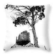 West Mitten Butte Throw Pillow