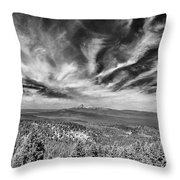 West Of Crater Lake B W Throw Pillow