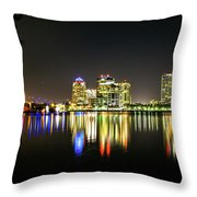 West Palm Beach Downtown Panoramic Throw Pillow
