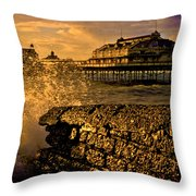 West Pier Splash Throw Pillow