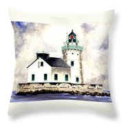 West Pierhead Lighthouse Throw Pillow