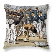West Point Cartoon, 1880 Throw Pillow