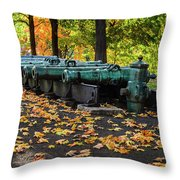 West Point Fall Leaves Throw Pillow