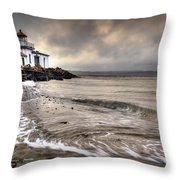 West Point Light House Throw Pillow