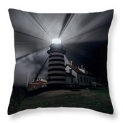 West Quoddy Head Lighthouse History And Facts Throw Pillow