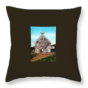 West Road Barn - All Rights Reserved Throw Pillow