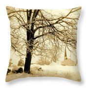 West Shelby Church Throw Pillow