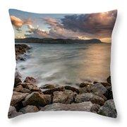 West Shore Sunset Throw Pillow