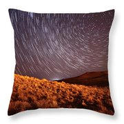 West Side Volcano Throw Pillow