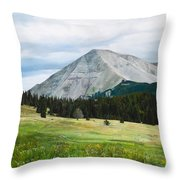 West Spanish Peak In Summer Throw Pillow