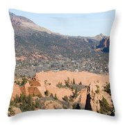 West Springs And Distant Garden Of The Gods Throw Pillow