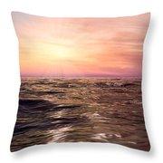 West Sunset Romantic Throw Pillow