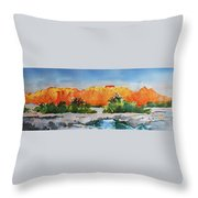 West Temple Zion Afternoon Throw Pillow