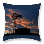 West Texas Cattle Tank Throw Pillow