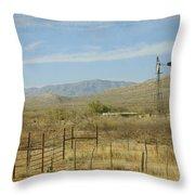 West Texas Ranch Scene II Throw Pillow