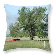 West Texas Windmill Throw Pillow