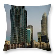 West Trade Street Downtown Charlotte North Carolina Throw Pillow