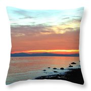 West Vancouver Sunset Throw Pillow