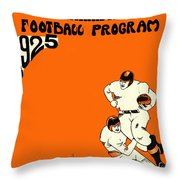 West Virginia 1925 Football Program Throw Pillow