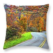 West Virginia Curves Throw Pillow