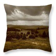 West Virginia Overcast Throw Pillow