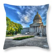 West Virginia State Capitol Building No. 2 Throw Pillow