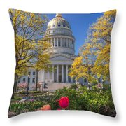 West Virginia State Capitol Colors Of Spring Throw Pillow