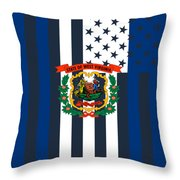 West Virginia State Flag Graphic Usa Styling Throw Pillow