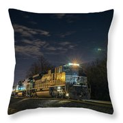 Westbound Norfolk Southern 375 At Georgetown In Throw Pillow