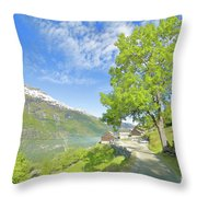 Westeraas Farm Throw Pillow