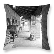 Western Alley 1 Throw Pillow