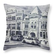 Western Avenue In Muskegon, Michigan Throw Pillow