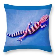 Western Banded Gecko Throw Pillow