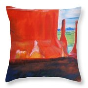 Western Canyon Throw Pillow