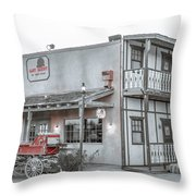 Western Carriage Stop Throw Pillow