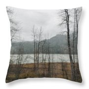 Western Cascade Foothills Throw Pillow