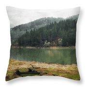 Western Cascades River Throw Pillow