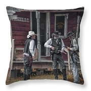 Western Cowboy Re-enactors At 1880 Town Throw Pillow