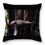 Western Fence Lizard Throw Pillow