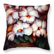 Western Flowers Throw Pillow