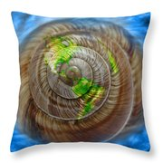 Western Hemisphere On A Seashell Throw Pillow