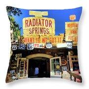 Western Junk Shop California Adventure  Throw Pillow