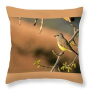 Western Kingbird Throw Pillow