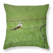 Western Kingbird Throw Pillow