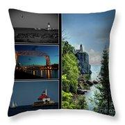 Western Lake Superior Throw Pillow