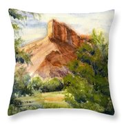 Western Landscape Watercolor Throw Pillow
