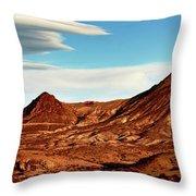 Western Mountain Scene Throw Pillow