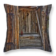 Western Outhouse Throw Pillow